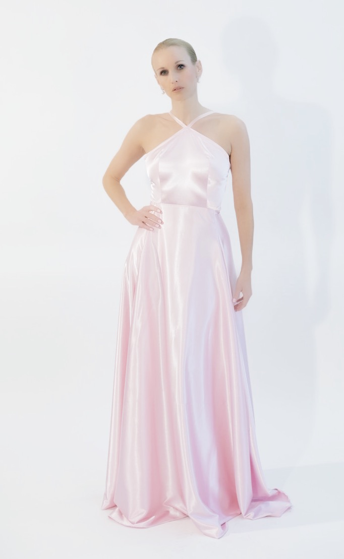 Couture Classic Pink Evening Gown – BABETTE BROWN